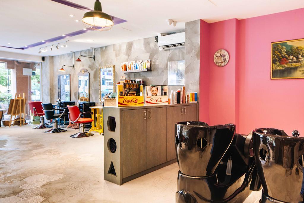 Hairhaus, Commercial, Interior Designer, Urban Habitat Design, Eclectic, Industrial