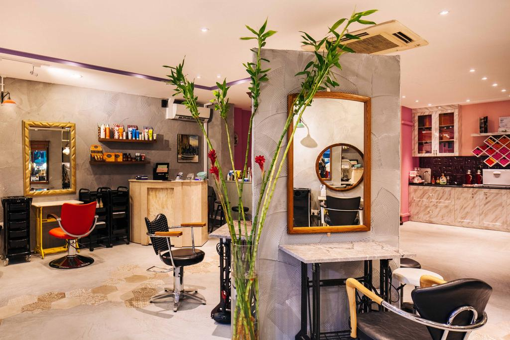 Hairhaus, Commercial, Interior Designer, Urban Habitat Design, Eclectic, Industrial, Flora, Jar, Plant, Potted Plant, Pottery, Vase