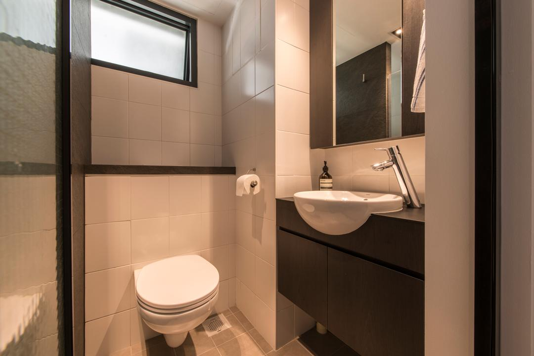 SkyTerrace @ Dawson (Block 90), Habit, Modern, Bathroom, HDB, Partition, Erected Partition, Facuet, Sink, Round Sink, Round Basin, Indoors, Interior Design, Room, Toilet