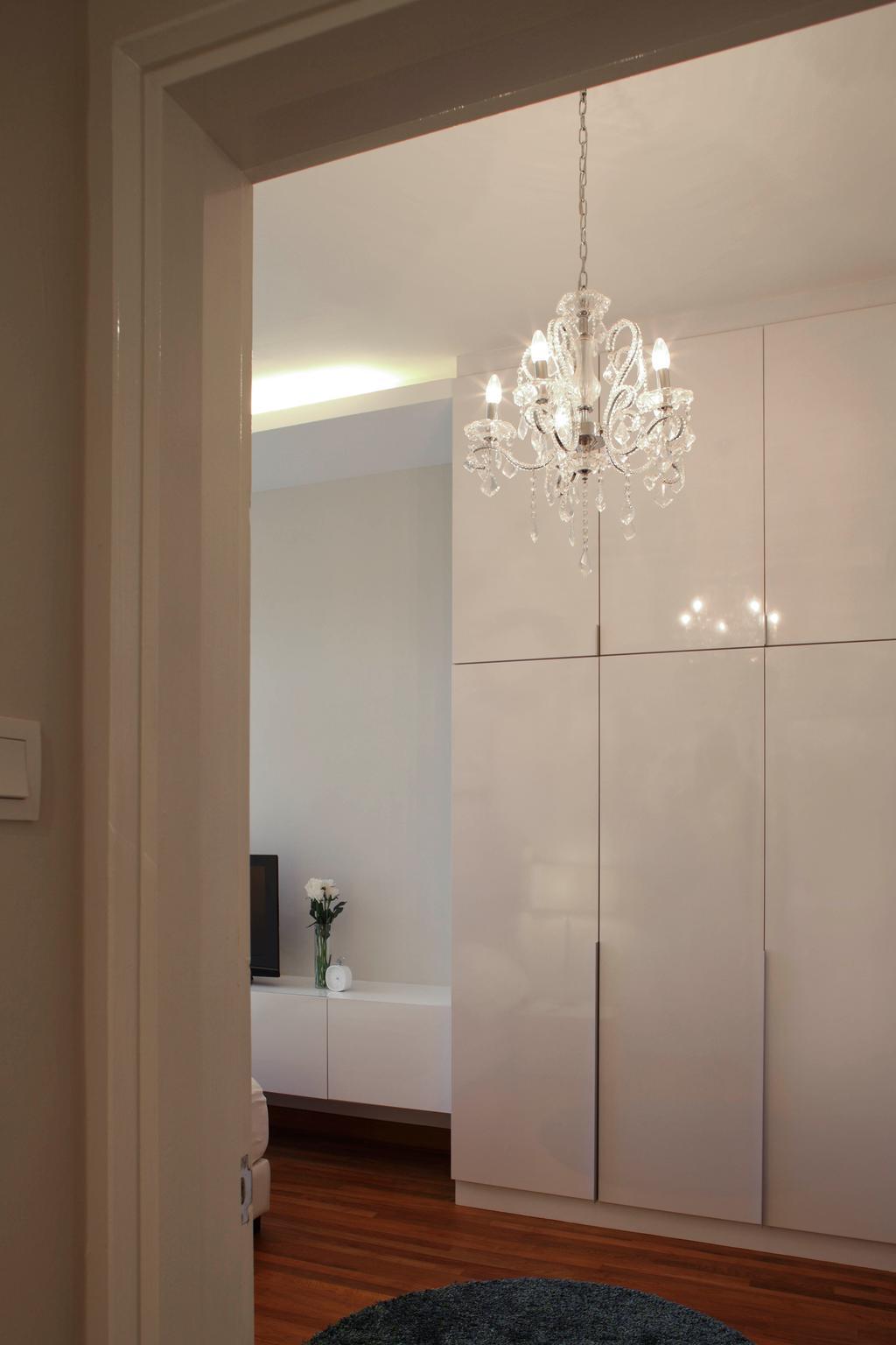 Modern, Condo, Bedroom, 19 Shelford Road, Interior Designer, De Exclusive Design Group, Chandelier, Wardrobe, Cabinetry