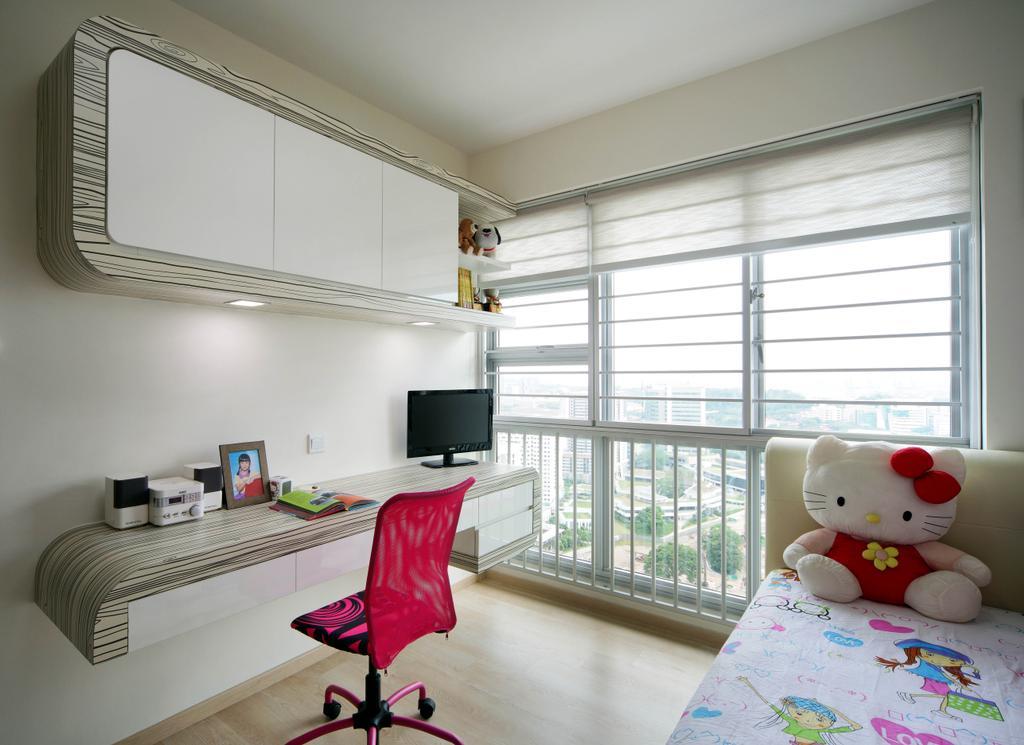 Contemporary, HDB, Bedroom, Clementi Avenue 1 (Block 425), Interior Designer, De Exclusive Design Group, Chair, Furniture