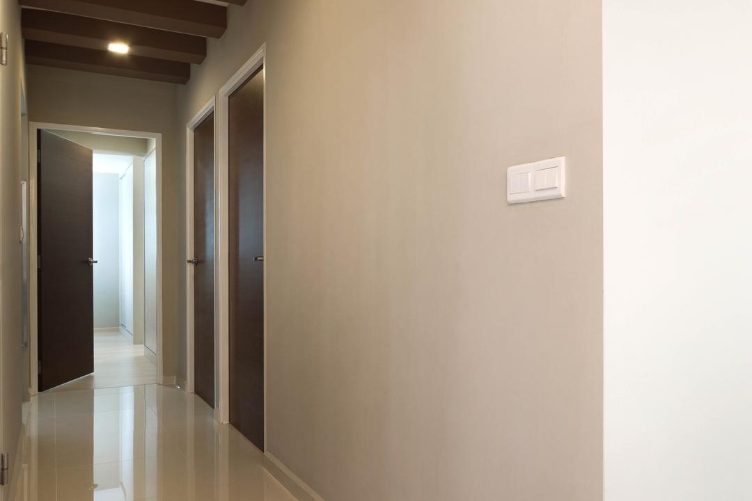 Clementi Avenue 1 (Block 425), De Exclusive Design Group, Contemporary, HDB, Wooden Beams, Beams, Wallway, Hallway, Corridor