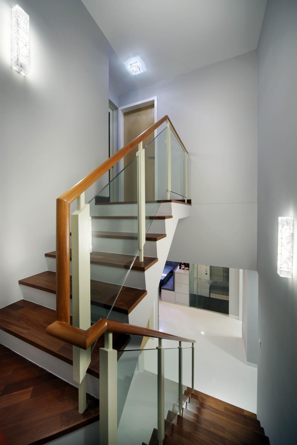 Traditional, Condo, Fontaine Parry, Interior Designer, De Exclusive Design Group, Staircase, Stairs, Banister, Handrail, Shelf, Door, Sliding Door