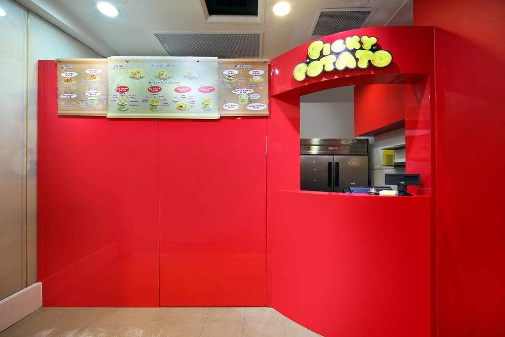 Picky Potato, Commercial, Interior Designer, De Exclusive Design Group, Traditional, Counter, Food Counter, Menu, F B