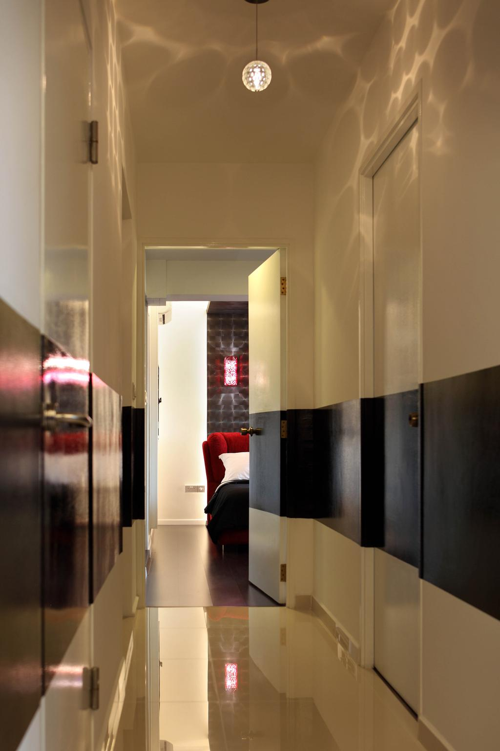 Transitional, HDB, Sengkang West Avenue (Block 438B), Interior Designer, De Exclusive Design Group, Wallway, Hallway, Couch, Furniture
