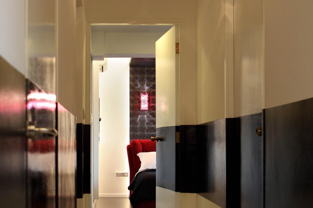 Sengkang West Avenue (Block 438B), De Exclusive Design Group, Transitional, HDB, Wallway, Hallway, Couch, Furniture