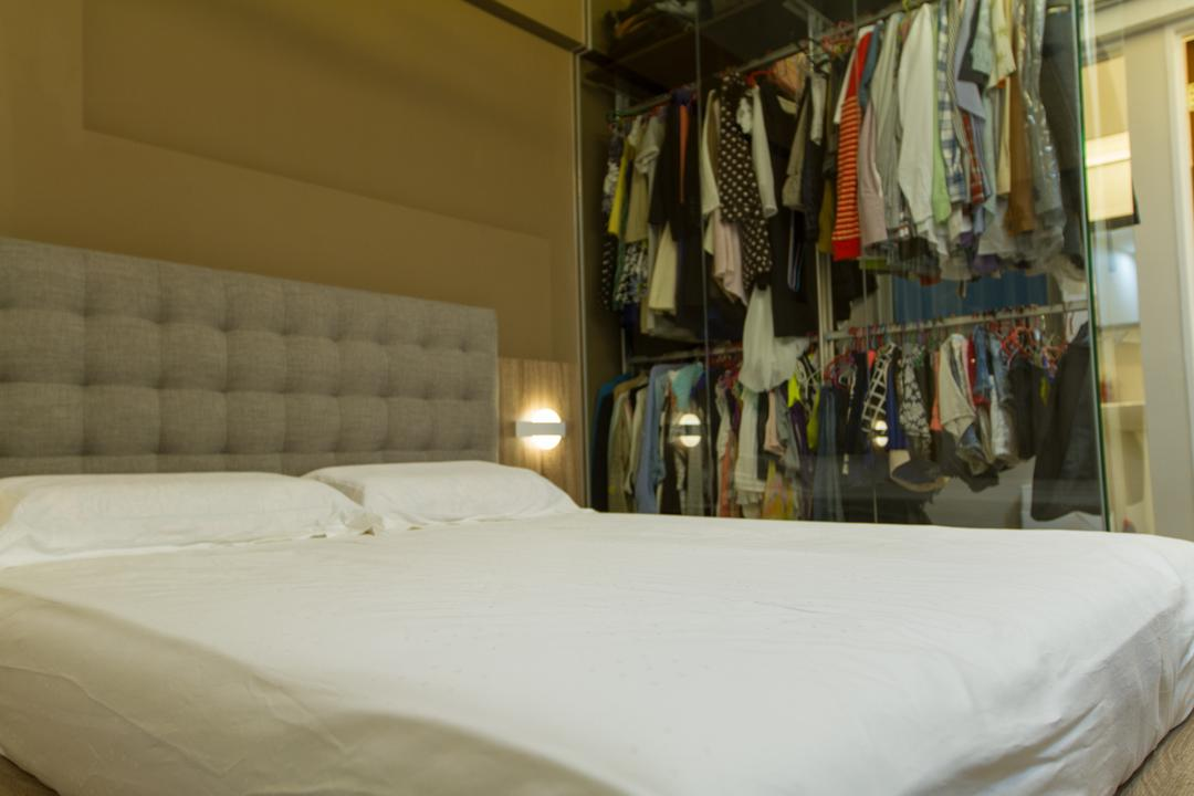 Yishun Ring Road, MET Interior, Traditional, HDB, Headboard, Cluttered, Clutter, Wardrobe, Closet, Accessories, Tie, Bed, Furniture