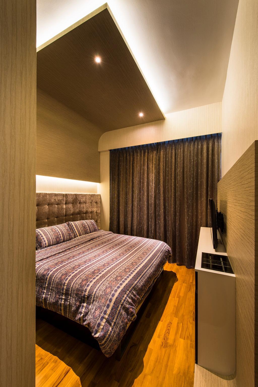 Contemporary, Condo, Bedroom, Waterline, Interior Designer, Ciseern, Cove Lights, Down Lights, Parquet, Indoors, Interior Design, Room