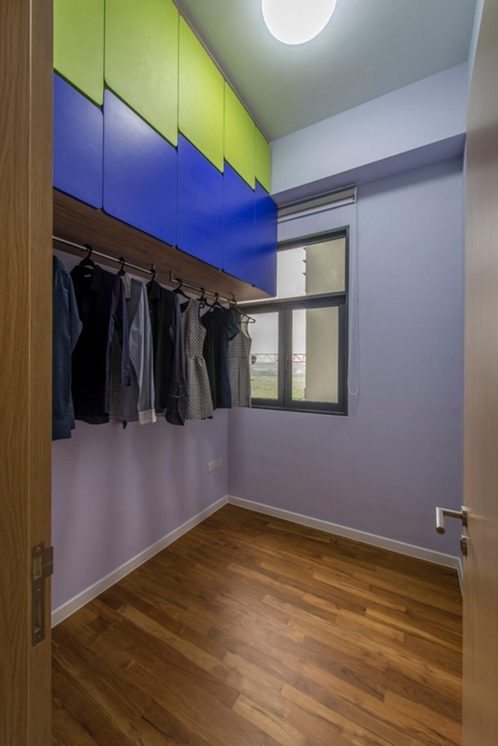 Modern, Condo, Bedroom, Boathouse Residences, Interior Designer, Space Define Interior, Wall Cabinet, Clothes Rack