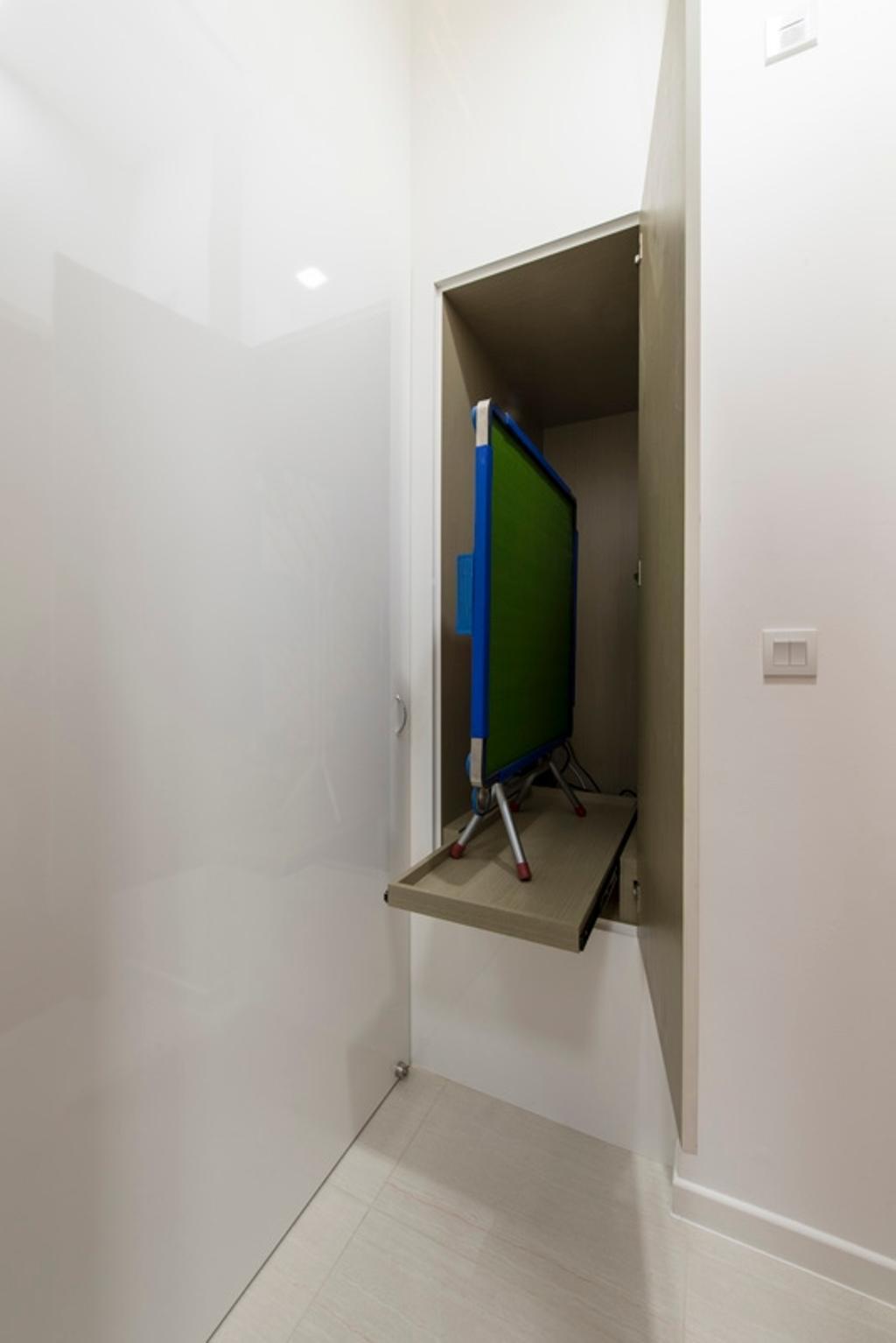 Modern, Condo, Boathouse Residences, Interior Designer, Space Define Interior, Concealed Partition, Hidden, Hidden Storage, Concealed Storage