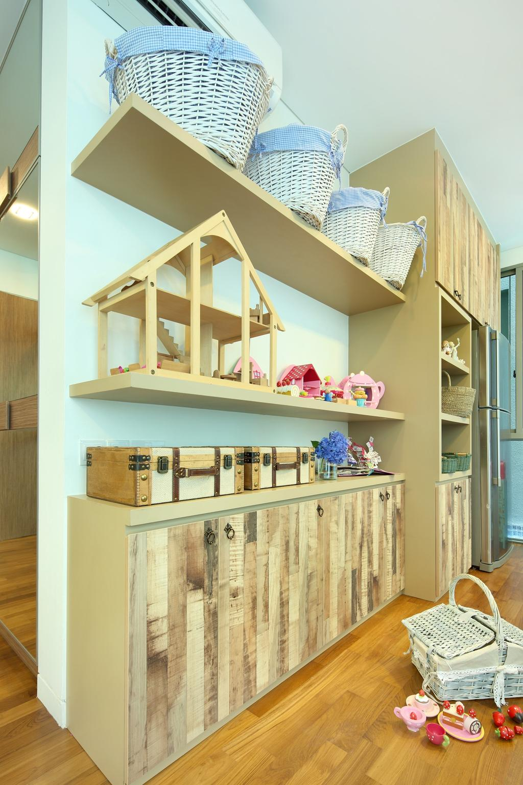 Contemporary, Condo, 56 St Patrick Road, Interior Designer, Space Define Interior, Shelves, Cubbyholes, Cabinet, Storage, Woodwork, Wood, Laminate, Wood Laminate, Parquet, Bookcase, Furniture