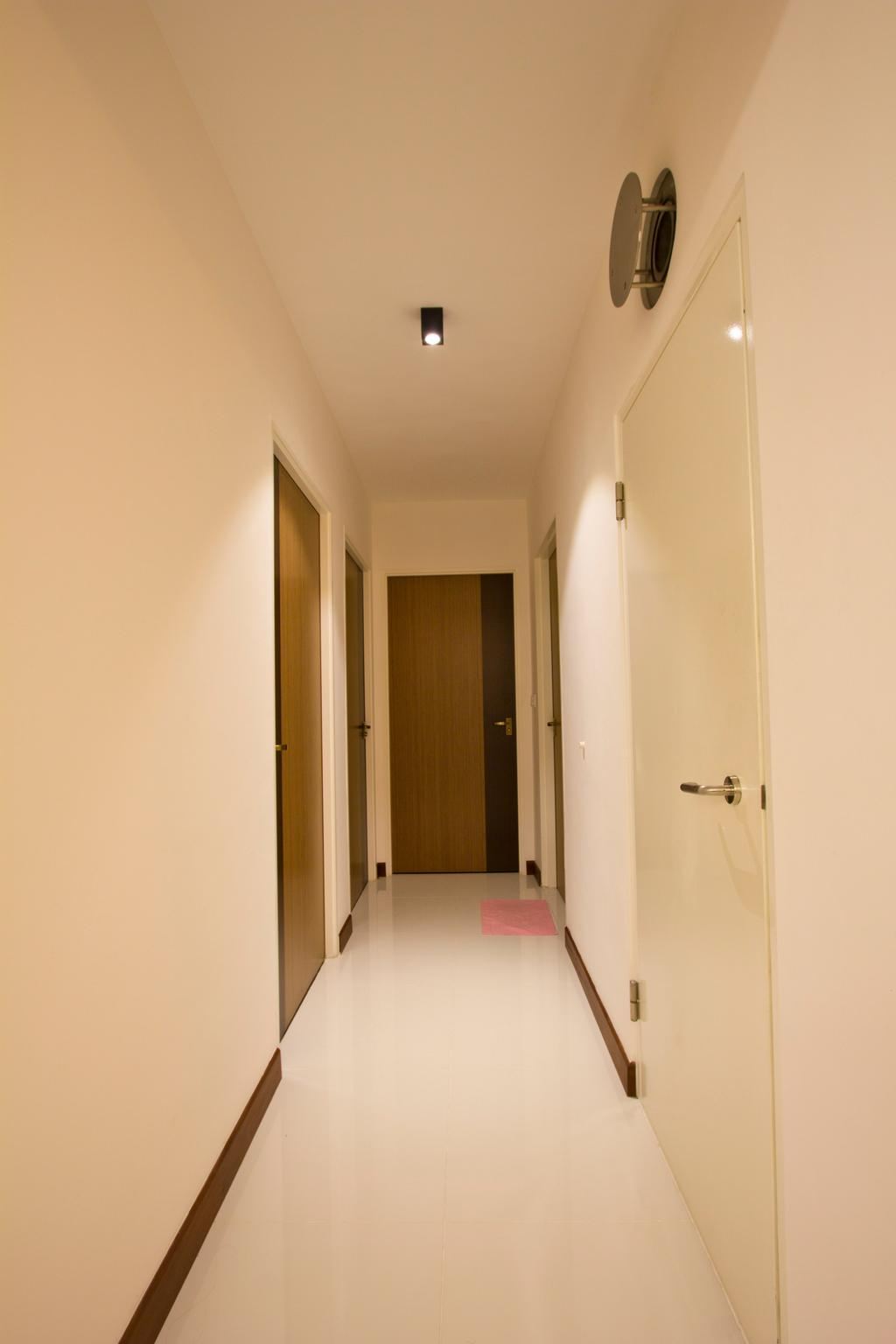 Contemporary, HDB, Upper Serangoon Crescent (Block 477), Interior Designer, MET Interior, Storeroom, Marble Tiles, Wood Door, Corridor