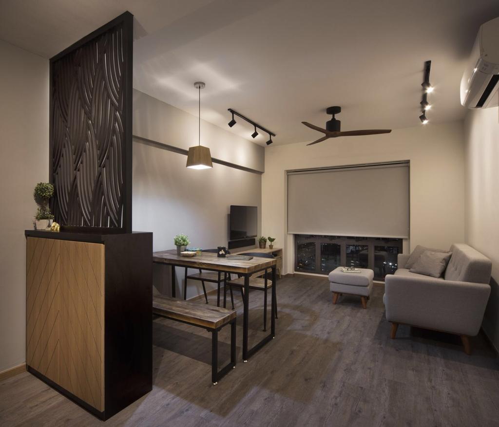 Industrial Kitchen Hdb: Interior Design Singapore