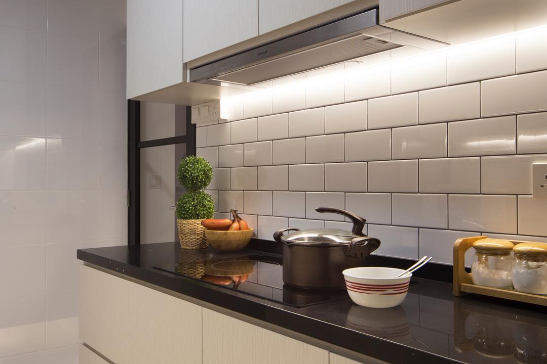 Skyville @ Dawson, Space Concepts Design, Industrial, Kitchen, HDB, Kitchen Carpentry, Pot