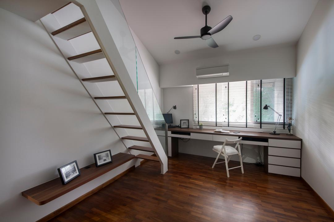 Sommerville Park, Schemacraft, Modern, Study, Condo, Simple And Functional, Built In Study Desk, Loft Study Room