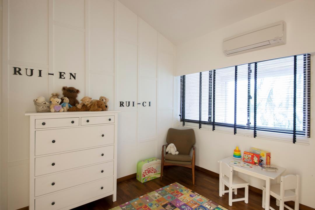 Sommerville Park, Schemacraft, Modern, Bedroom, Condo, Children Room, Children Chair, Children Desk, Children Floor Mat, White Cabinets, White Drawers, Indoors, Nursery, Room