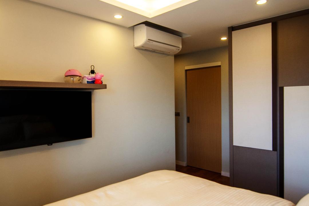 SkyTerrace @ Dawson (Block 91), IdeasXchange, Traditional, Bedroom, HDB, Cove Lighting, Ceiling Fan, Tv Mount, Aircon
