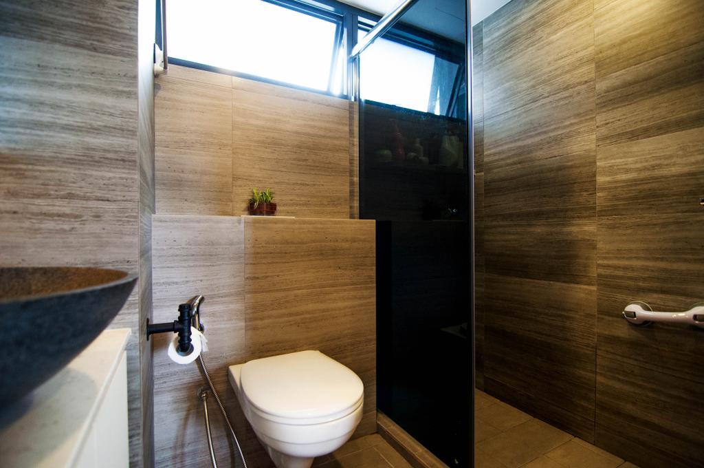 Traditional, HDB, Bathroom, SkyTerrace @ Dawson (Block 91), Interior Designer, IdeasXchange, Toilet Bowl, Bathroom Wall Designs, Sink