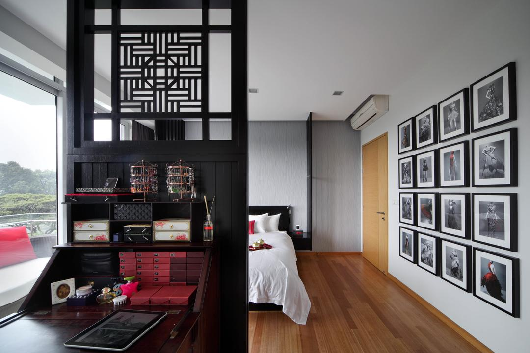 Aalto, Fuse Concept, Modern, Bedroom, Condo, Partition, Table, Study Table, Work Station, Work Desk, Shelves, Shelving, Storage, Photo Frames, Wall Decor, Wall Art, Home Decor, Wood Floor, Bright, Oriental Design, Oriental Style, Flooring, Indoors, Interior Design, Room
