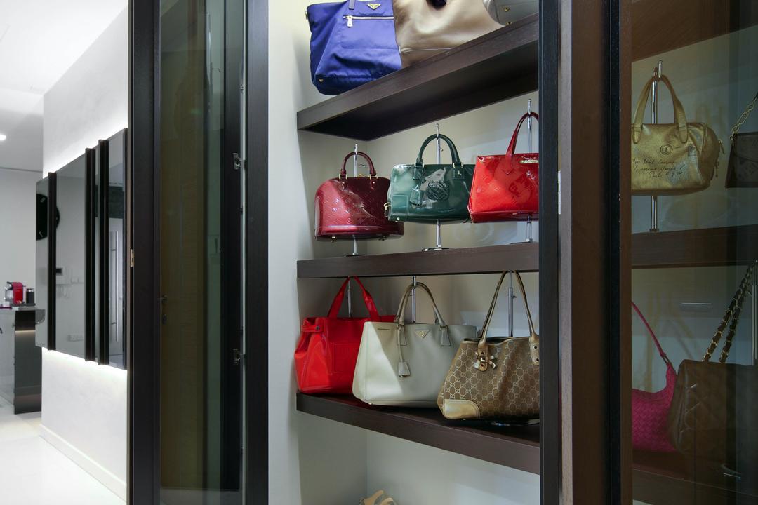 Aalto, Fuse Concept, Modern, Condo, Display, Display Cabinet, Bag Storage, Handbags, Shoe Cabinet, Accessories Cabinet, Cabinetry, Handbag Cabinet, Bag, Accessories, Handbag, Purse, Clothing, Footwear, Shoe