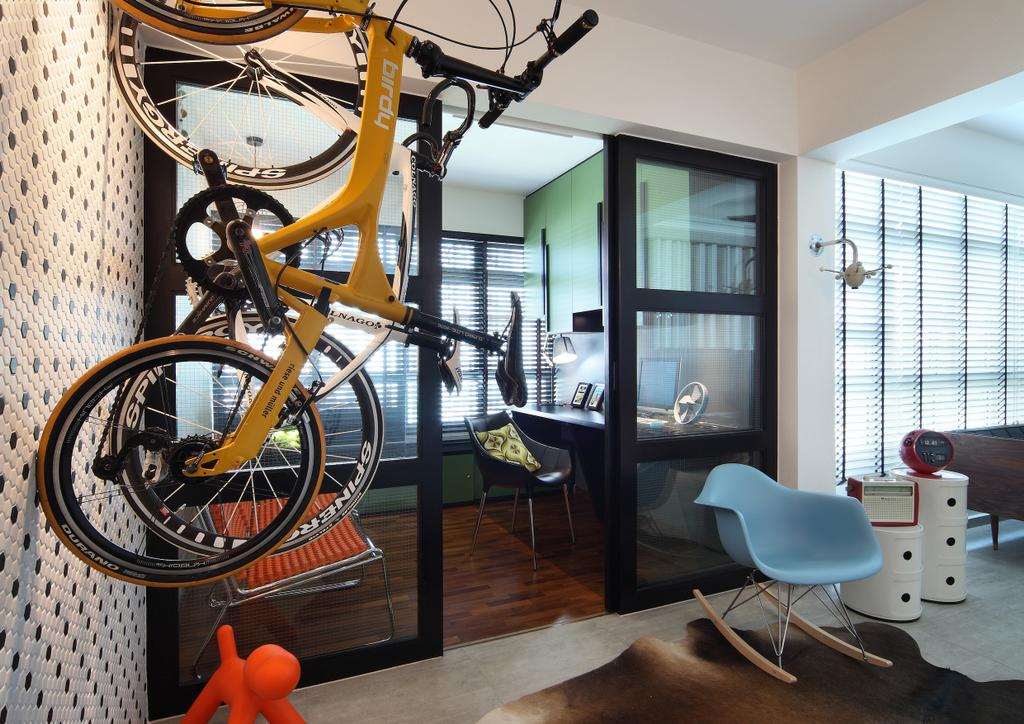 Scandinavian, HDB, Living Room, Ghim Moh Link, Interior Designer, Fuse Concept, Chair, Furniture, Bicycle, Bike, Transportation, Vehicle