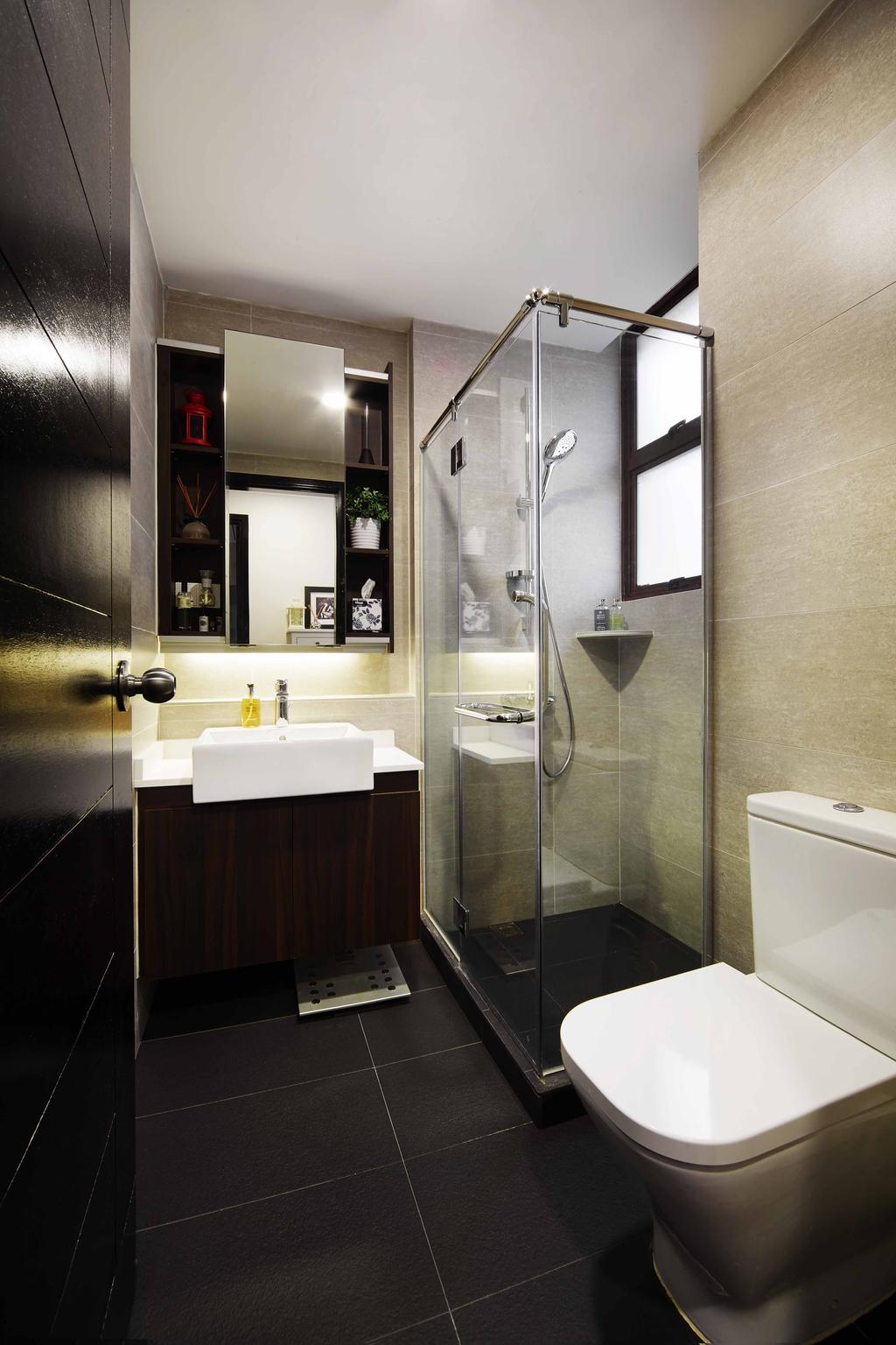 Contemporary, Condo, Bathroom, Legenda, Interior Designer, The Local INN.terior 新家室, Shower Screen, Bathroom Vanity, Bathroom Sink, Mirror, Bathroom Cabinet, Toilet Bown, Toilet Bowl, Water Closet, Shower Area, Indoors, Interior Design, Room