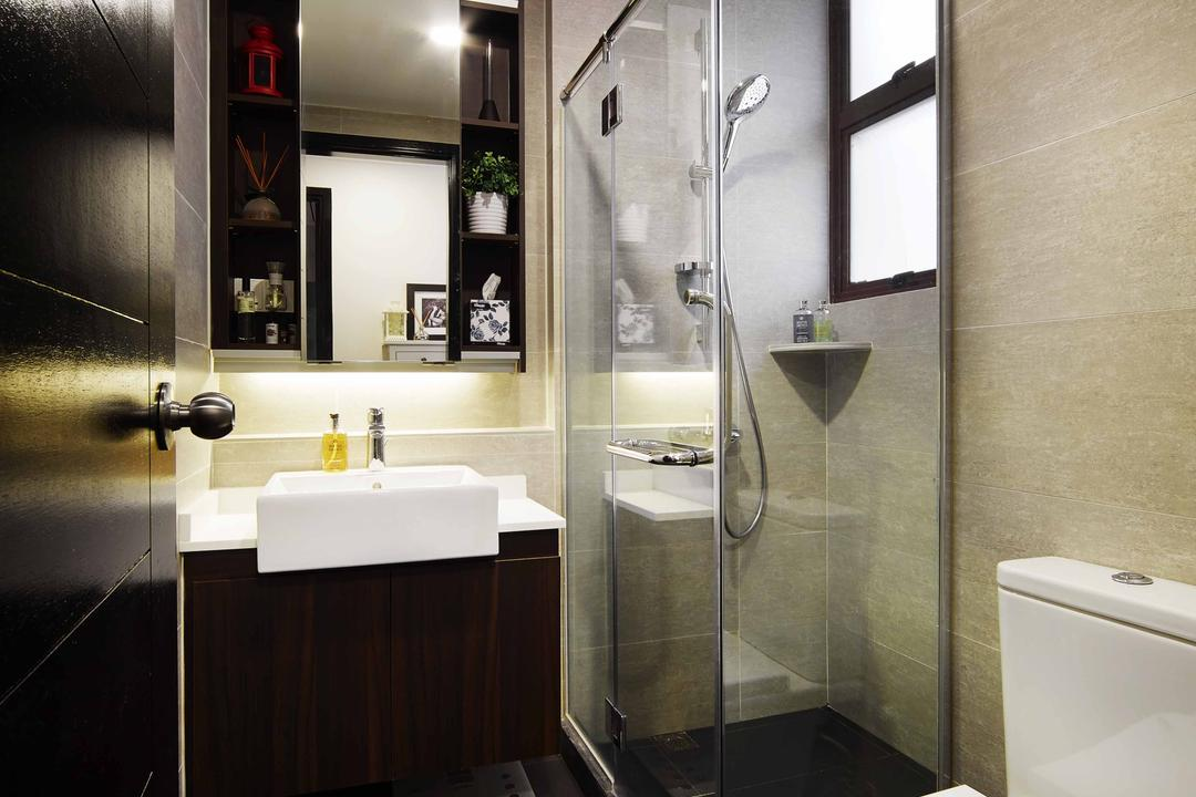 Legenda, The Local INN.terior 新家室, Contemporary, Bathroom, Condo, Shower Screen, Bathroom Vanity, Bathroom Sink, Mirror, Bathroom Cabinet, Toilet Bown, Toilet Bowl, Water Closet, Shower Area, Indoors, Interior Design, Room