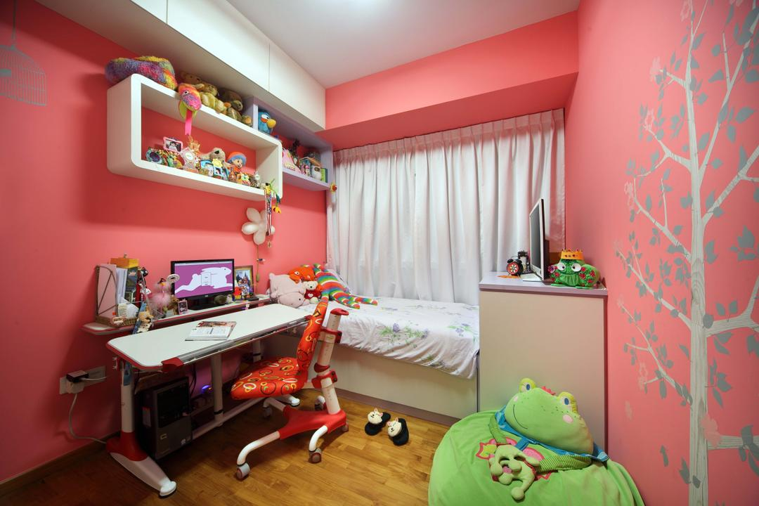 Double Bay Residences, The Local INN.terior 新家室, Traditional, Bedroom, Condo, Children Room, Kids Room, Children Bed, Kids Bed, Kids Storage Bed, Children Storage Bed, Built In Bed, Made To Measure Bed, , Pastels, Pastel Wall, Orange And White Wal, Children Wall, Kids Wall, Children Room Wall, Kids Room Wall, Children Desk, Work Desk, Study Desk, Children Chair, Children Study Chair, Kids Study Chair, Wall Stickers, Bean Bag, Beanie Bag