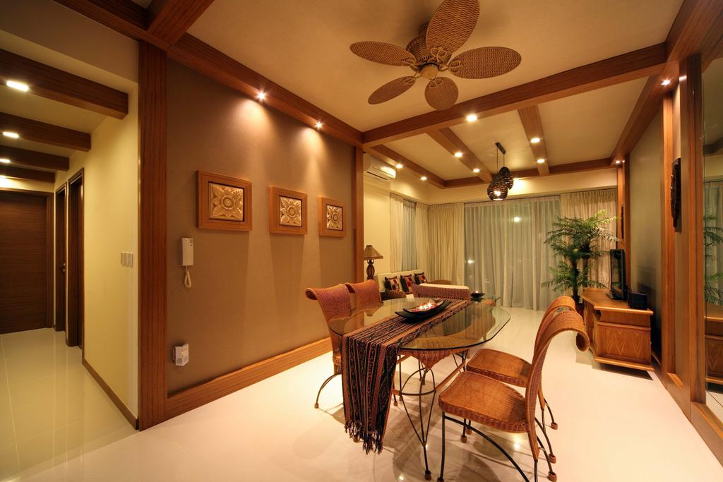 Traditional, Condo, Dining Room, Double Bay Residences, Interior Designer, The Local INN.terior 新家室, Dining Area, Simple Dining, Spacious Dining, Dining Table, Dining Chairs, Runner, Table Runner, Pictures, Picture Frames, Ceiling Fan, Brown Ceiling Hand, Wooden Ceiling Fan, White Floor, Flora, Jar, Plant, Potted Plant, Pottery, Vase, Chair, Furniture, Indoors, Interior Design, Room, Basement, Table