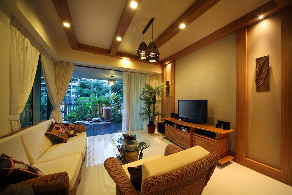Traditional, Condo, Living Room, Double Bay Residences, Interior Designer, The Local INN.terior 新家室, Living Room Design, Living Room Space, Living Room Idea, Beams, Ceiling Beams, Simple And Functional, Airy, Beam Lights, , Beam Lightings, Curtains, White Curtains, Scandinavian, Brown And White, Light Color Flooring, Flora, Jar, Plant, Potted Plant, Pottery, Vase, Couch, Furniture, Electronics, Monitor, Screen, Tv, Television, Curtain, Home Decor, Lighting, Indoors, Room, Interior Design