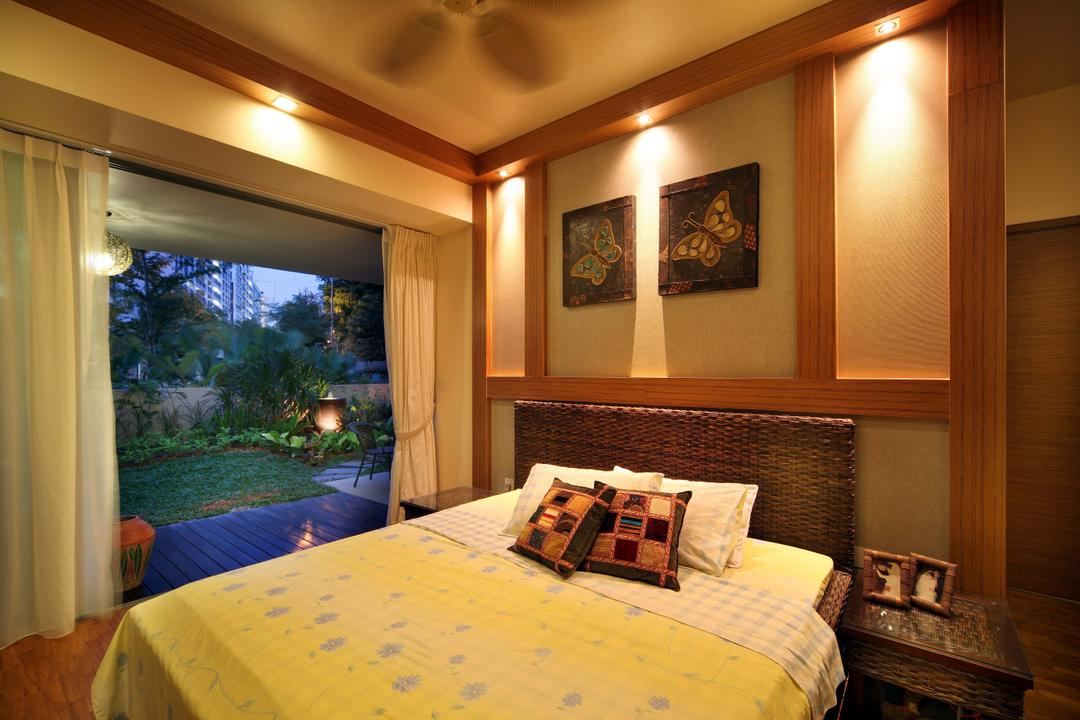 Double Bay Residences, The Local INN.terior 新家室, Traditional, Bedroom, Condo, Big Room, Spacious Room, Airy Room, Airy, Bedroom View, Bedroom Balcony, Indoors, Interior Design, Room, Bed, Furniture, Art