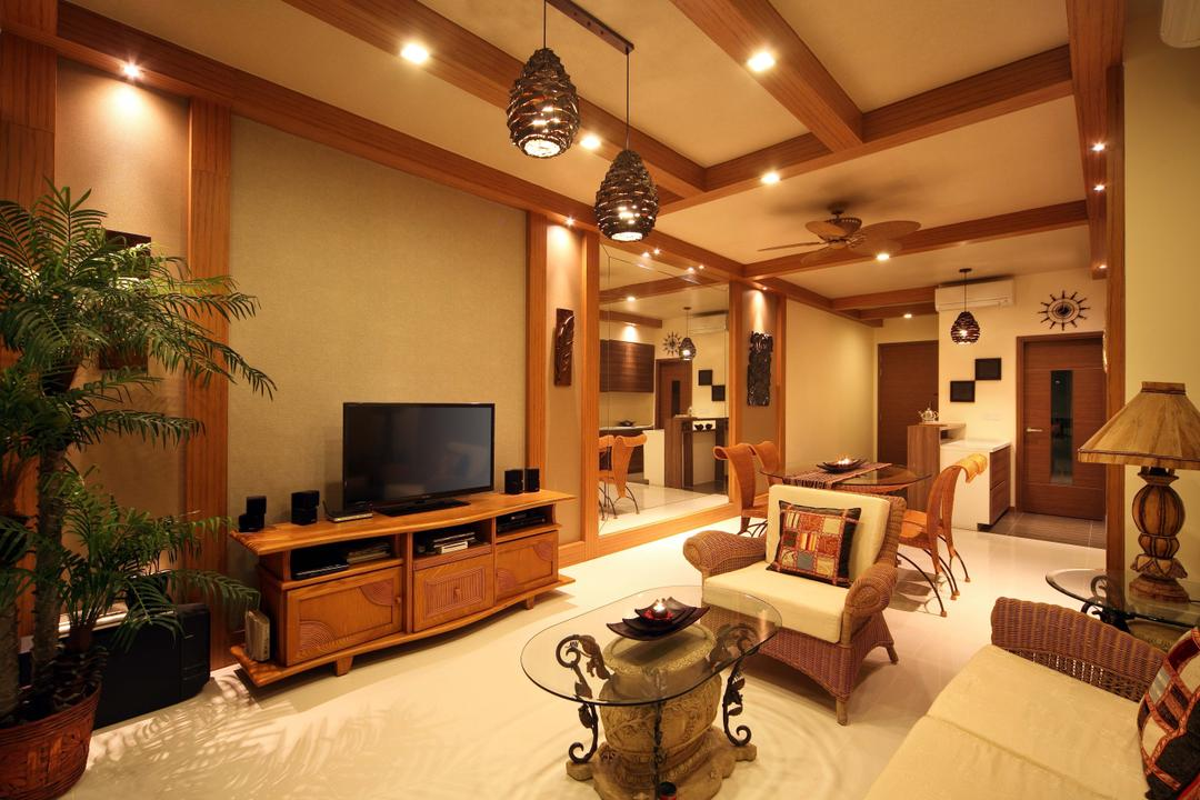 Double Bay Residences, The Local INN.terior 新家室, Traditional, Living Room, Condo, Coffee Table, , Small Coffee Table, Glass Coffee Table, Tv, Tv Console, Brown Tv Console, Simple Tv Console, Wooden Tv Console, Sofa, Ratten Sofa, Brown And White Sofa, Brown And White, Indoor Plants, Plants, Lamp, Table Lamp, White Flooring, Flora, Jar, Plant, Potted Plant, Pottery, Vase, Couch, Furniture