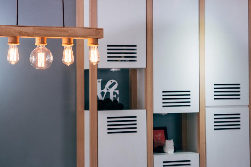 Scandinavian, HDB, Dining Room, Chai Chee (Block 808C), Interior Designer, Urban Habitat Design, Light Bulb, Light Bulb Pendant Lamp, Exposed Bulb Pendant Lamp, Light Fixture