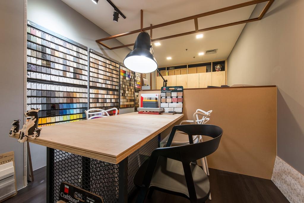 Beauty World Centre, Commercial, Interior Designer, Alpina Woody, Scandinavian, Table, Work Desk, Work Station, Table Lamp, Colour Palette, Colour Tone, Colours, Colour Chart