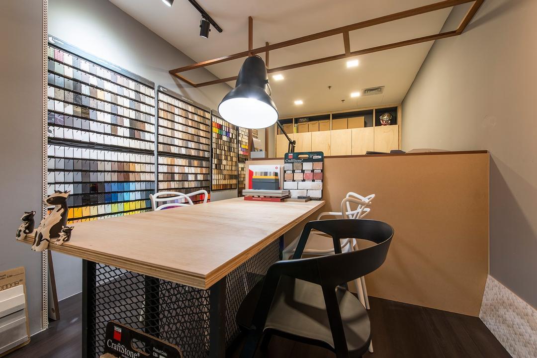 Beauty World Centre, Alpina Woody, Scandinavian, Commercial, Table, Work Desk, Work Station, Table Lamp, Colour Palette, Colour Tone, Colours, Colour Chart