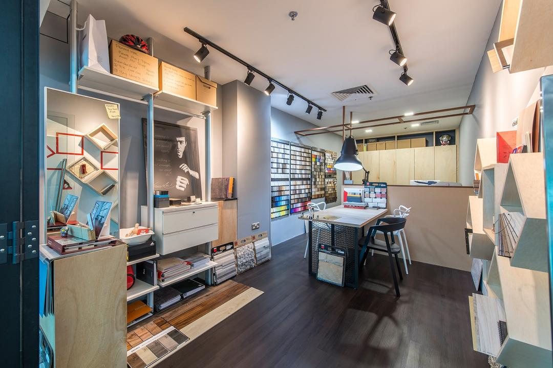 Beauty World Centre, Alpina Woody, Scandinavian, Commercial, Track Lights, Track Lighting, Pendant Lamp, Hanging Lamp, Pole System, Storage, Storage Space, Shelves, Shelving