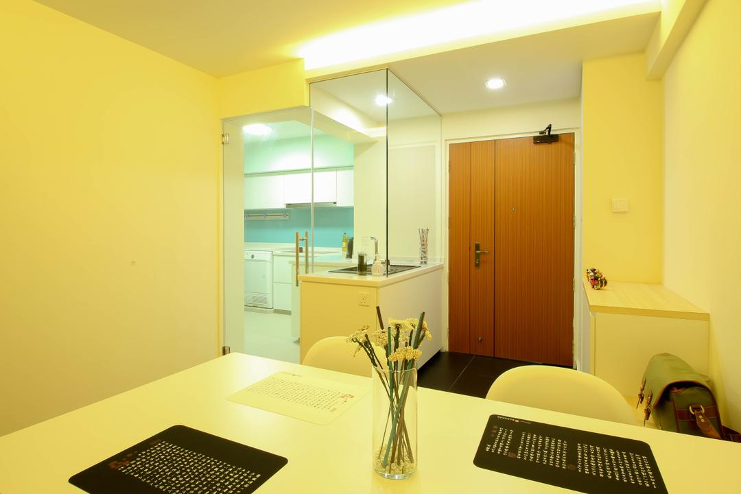 Sumang Link (Block 312), Fifth Avenue Interior, Modern, Eclectic, Dining Room, HDB, Black Table Mat, Vase, Dining Table Vase, Indoors, Room