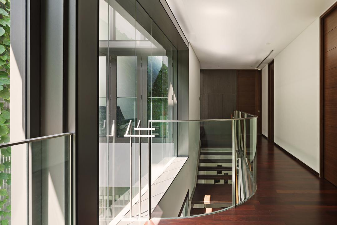 66 WTR, BHATCH Architects, Modern, Landed, Full Length Windows, Glass Railing, Glass Balustrade, Balustrade, Railing, Parquet, Stairs, Staircase
