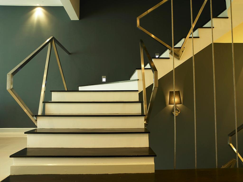 Modern, Landed, Living Room, The Peak, Interior Designer, The Grid Studio, Banister, Handrail