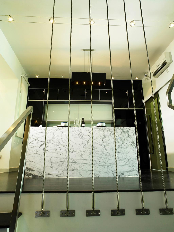 Modern, Landed, Kitchen, The Peak, Interior Designer, The Grid Studio, Railing