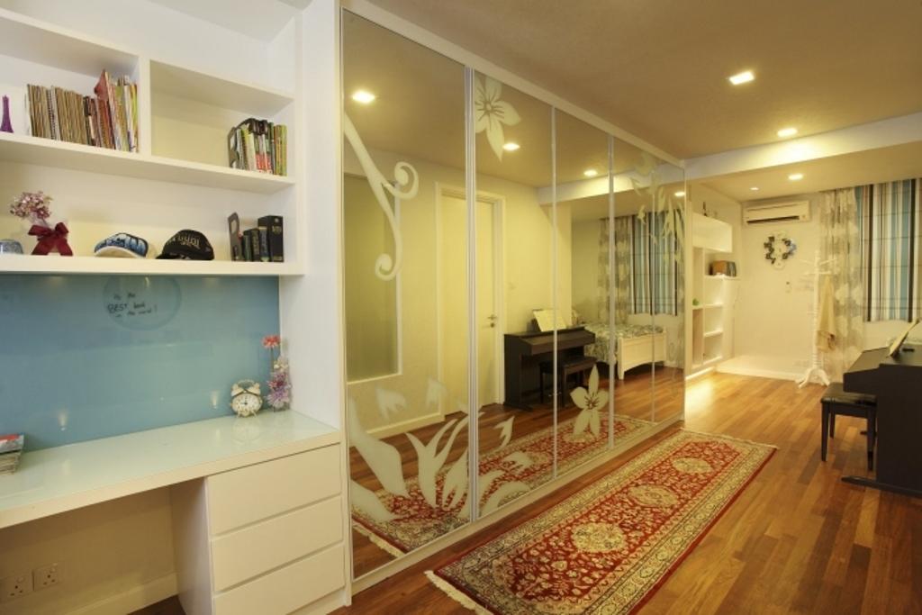 Traditional, Landed, Bedroom, Rafflesia, Interior Designer, The Grid Studio, Book, Hardwood, Wood, Bookcase, Furniture