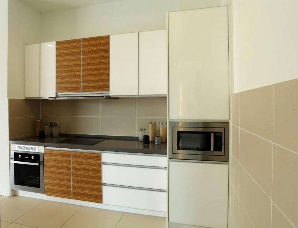 Modern, Landed, Kitchen, 16 Sierra, Interior Designer, The Grid Studio, Appliance, Electrical Device, Microwave, Oven, Indoors, Interior Design, Room