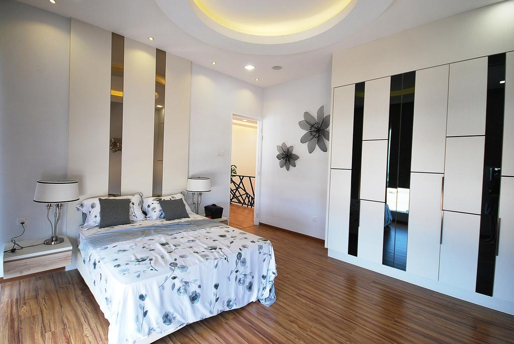 Eclectic, Landed, Bedroom, Ipoh South, Interior Designer, The Grid Studio, Bed, Furniture, Indoors, Interior Design, Room