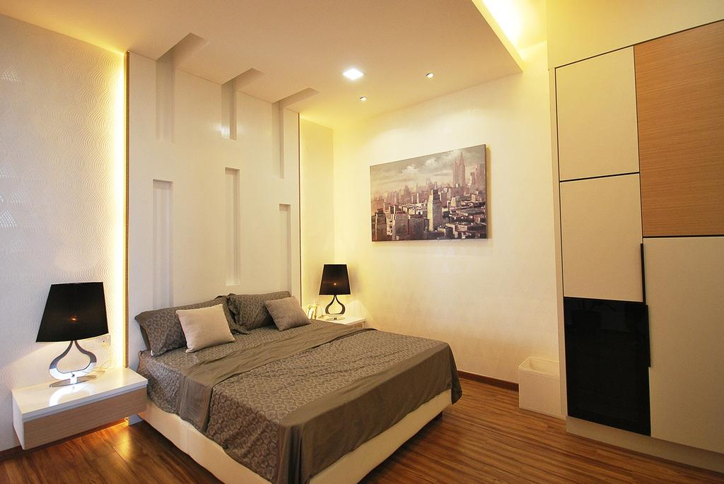 Eclectic, Landed, Bedroom, Ipoh South, Interior Designer, The Grid Studio, Electronics, Monitor, Screen, Tv, Television, Bed, Furniture, Indoors, Interior Design, Room