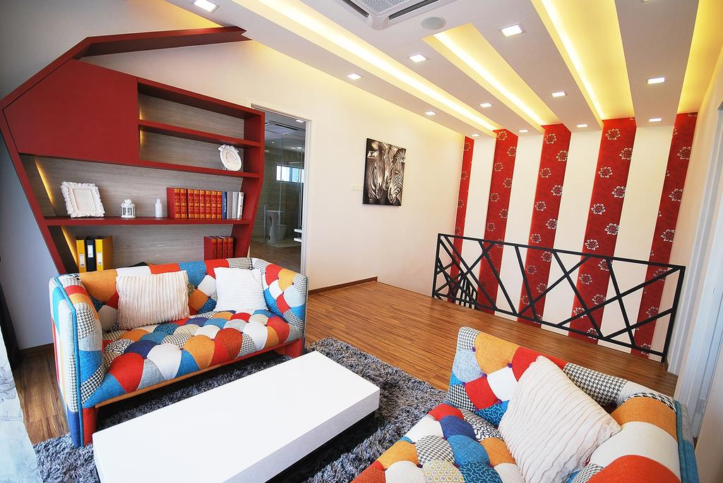 Eclectic, Landed, Living Room, Ipoh South, Interior Designer, The Grid Studio, Indoors, Room