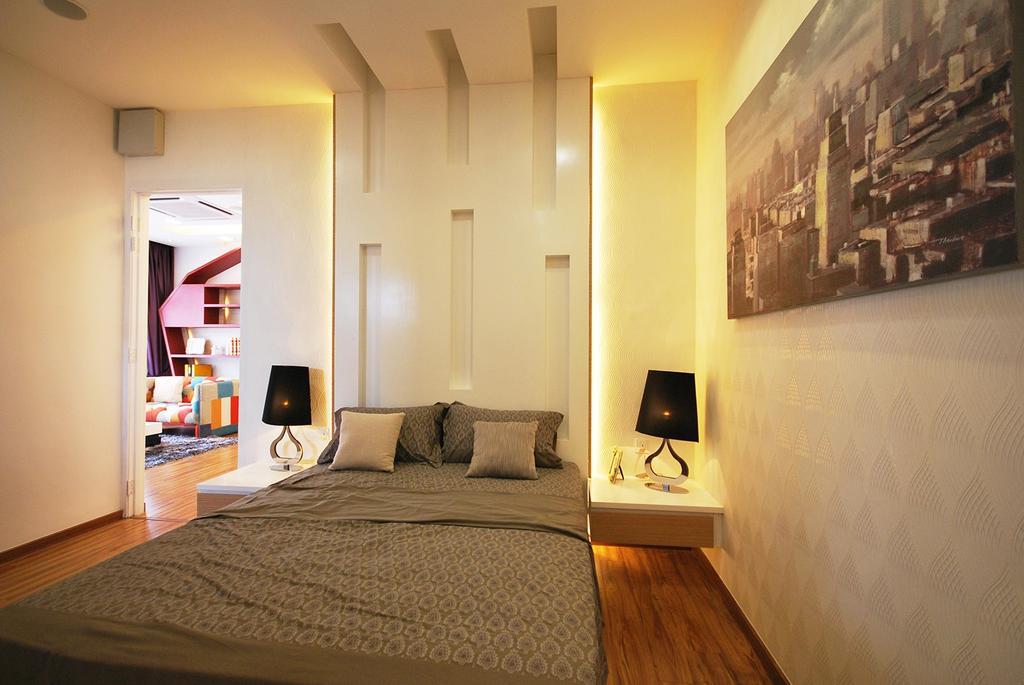 Eclectic, Landed, Bedroom, Ipoh South, Interior Designer, The Grid Studio, Indoors, Room, Interior Design