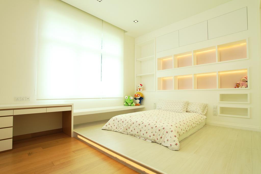 Minimalistic, Landed, Bedroom, The Residence, Mont Kiara, Interior Designer, The Grid Studio, Indoors, Interior Design, Room
