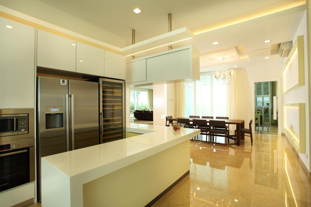 Minimalistic, Landed, Kitchen, The Residence, Mont Kiara, Interior Designer, The Grid Studio, Appliance, Electrical Device, Oven, Indoors, Interior Design