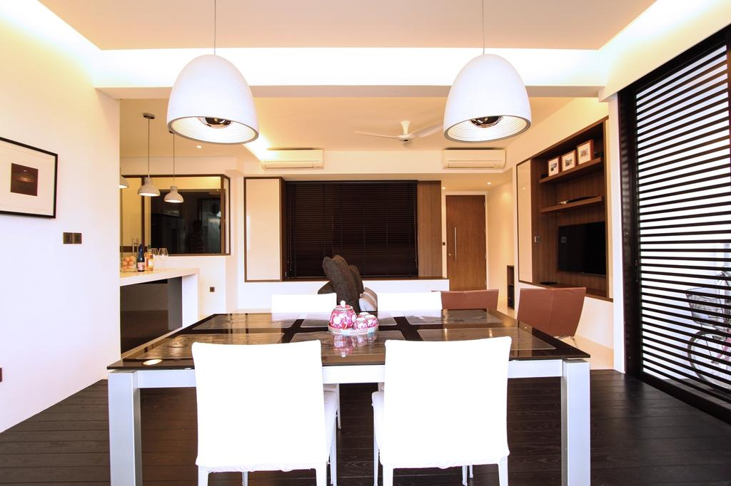 Modern, Condo, Dining Room, St Patrick's Residences, Interior Designer, 4mation ID, Simple Dining Set, Dining Idea, Dine In Balcony, Dine At Balcony