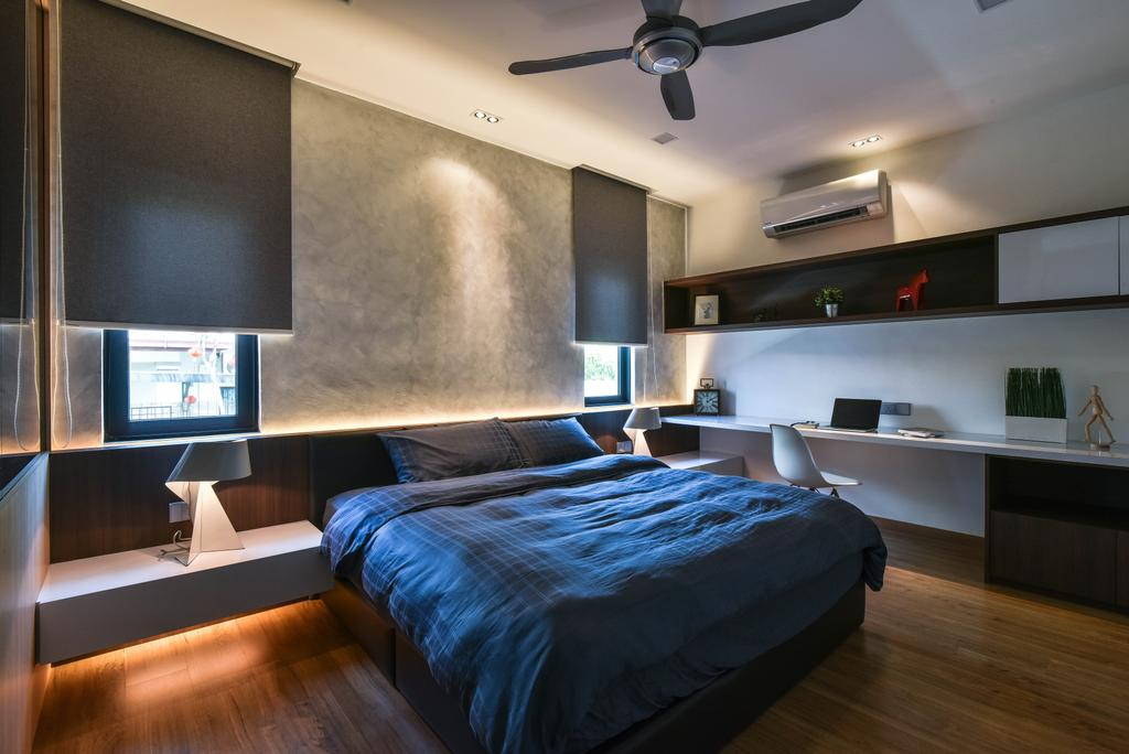 Modern, Landed, Bedroom, Sierra Damansara, Interior Designer, Surface R Sdn. Bhd., Electronics, Monitor, Screen, Tv, Television